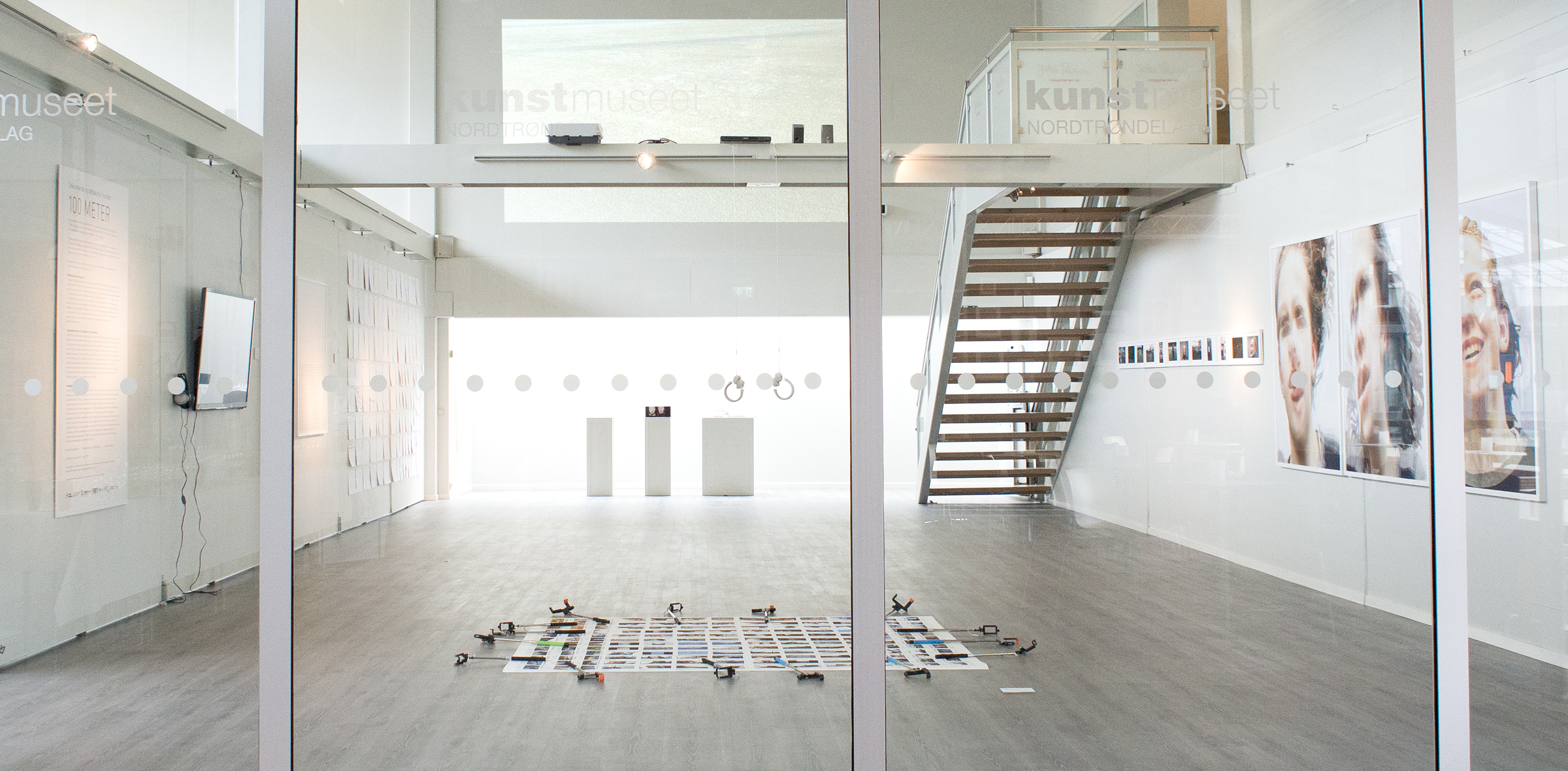 Fra utstillingen av 100-meter prosjektet